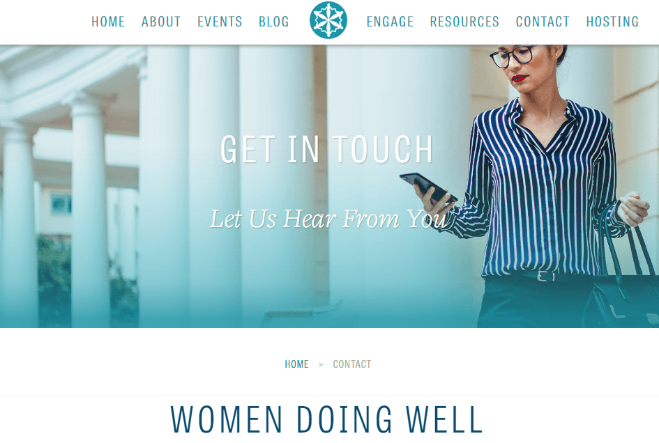 Women Doing Well interior page header