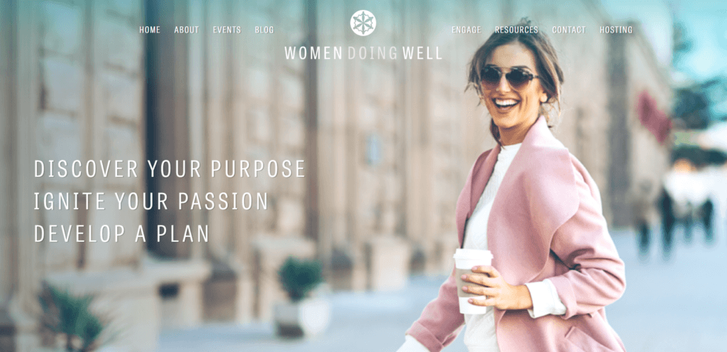 Women Doing Well home page header